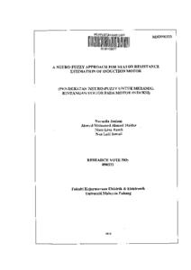 Neuro fuzzy thesis