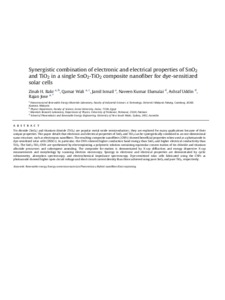 Synergistic combination of electronic and electrical properties of